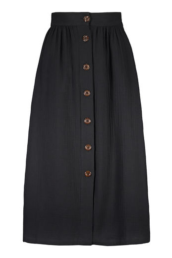 Button Skirt, Black edestä